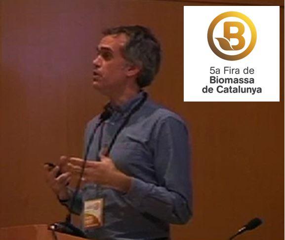 Sergi Pérez Del Departamento De Sostenibilidad Energética De DEKRA Participo En La 5a Fira De Biomasa De Catalunya