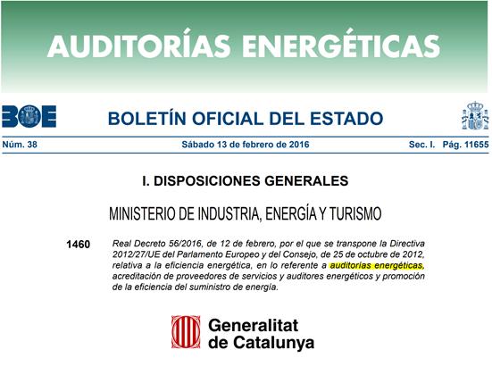 La Generalitat De Catalunya Advierte A Las Grandes Empresas Sobre La Obligatoriedad De Realizar Una Auditoría Energética.