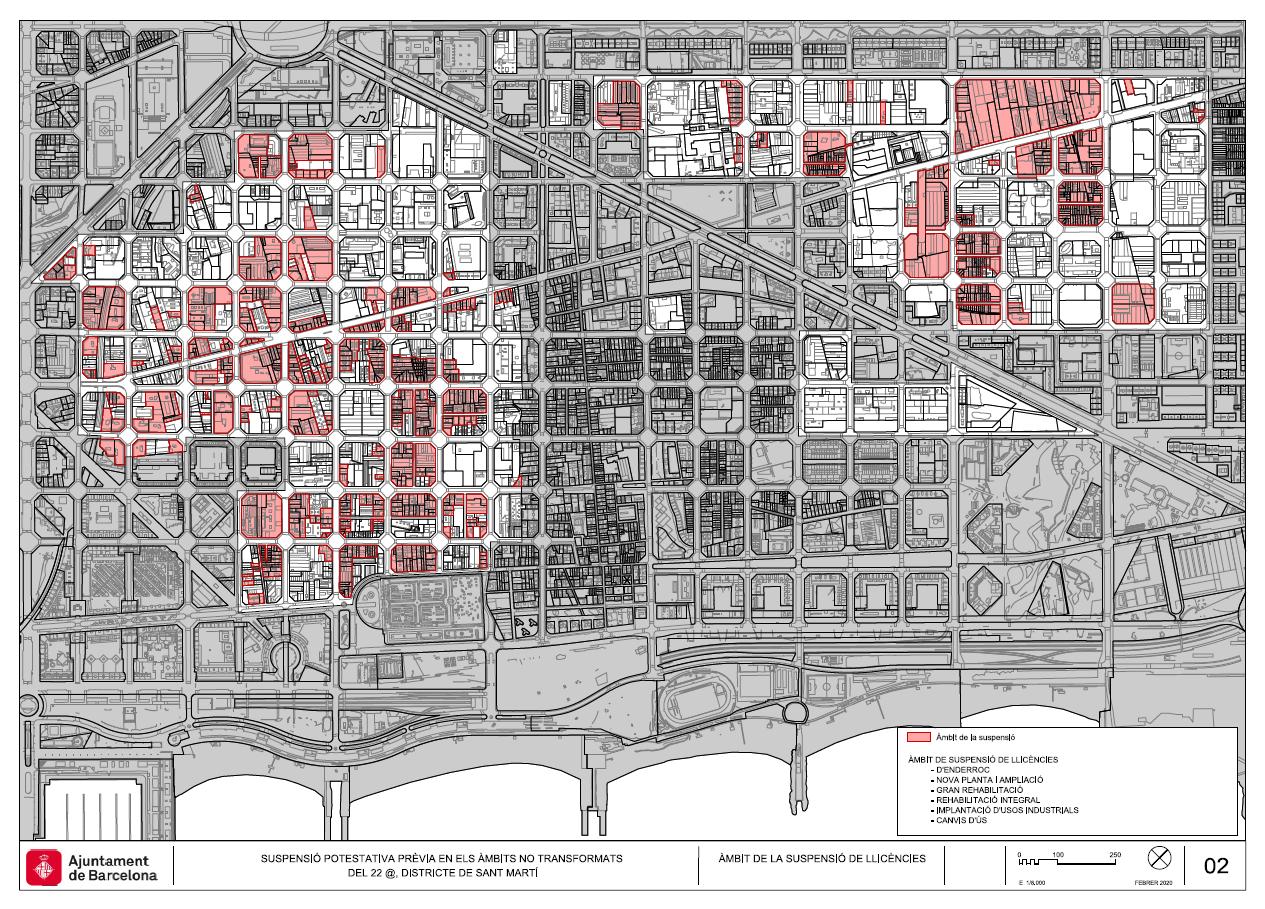 """""""La Comissió D'Ecologia, Urbanisme, Infraestructures I Mobilitat"""" Suspende Las Licencias En ámbito De Modificación Del PGM 22@ Del Distrito De Sant Martí."""